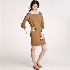 J.Crew Tan Dolman Sleeve Wool Sweater Dress Sz XS